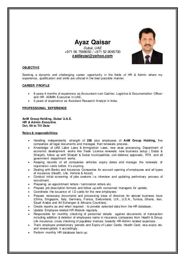 Ayaz Qaisar Resume