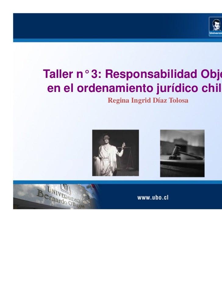 Responsabilidad Objetiva en el Ordenamiento Jurídico chileno