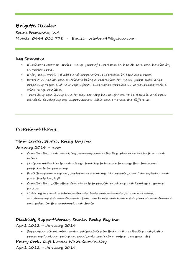 resume actual