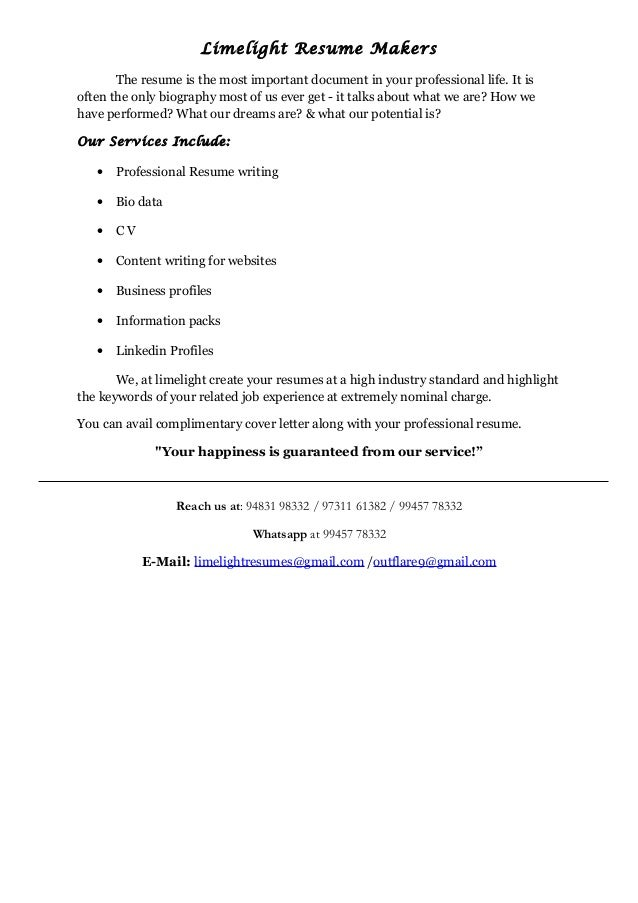 limelight resume makers limelight resume makers the resume is the most important document in your professional