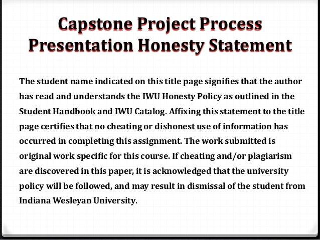 Capstone project nursing