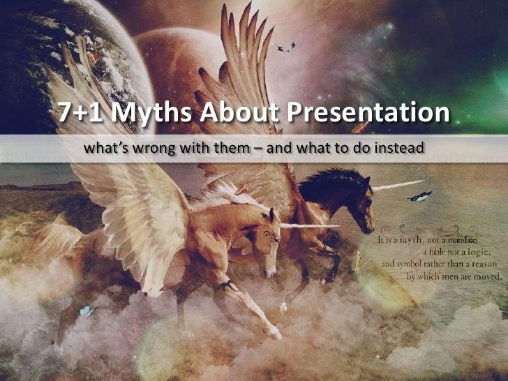 7+1 myths about presentation
