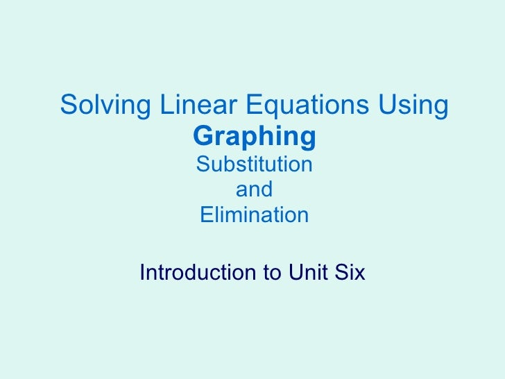 7 1solve By Graphing