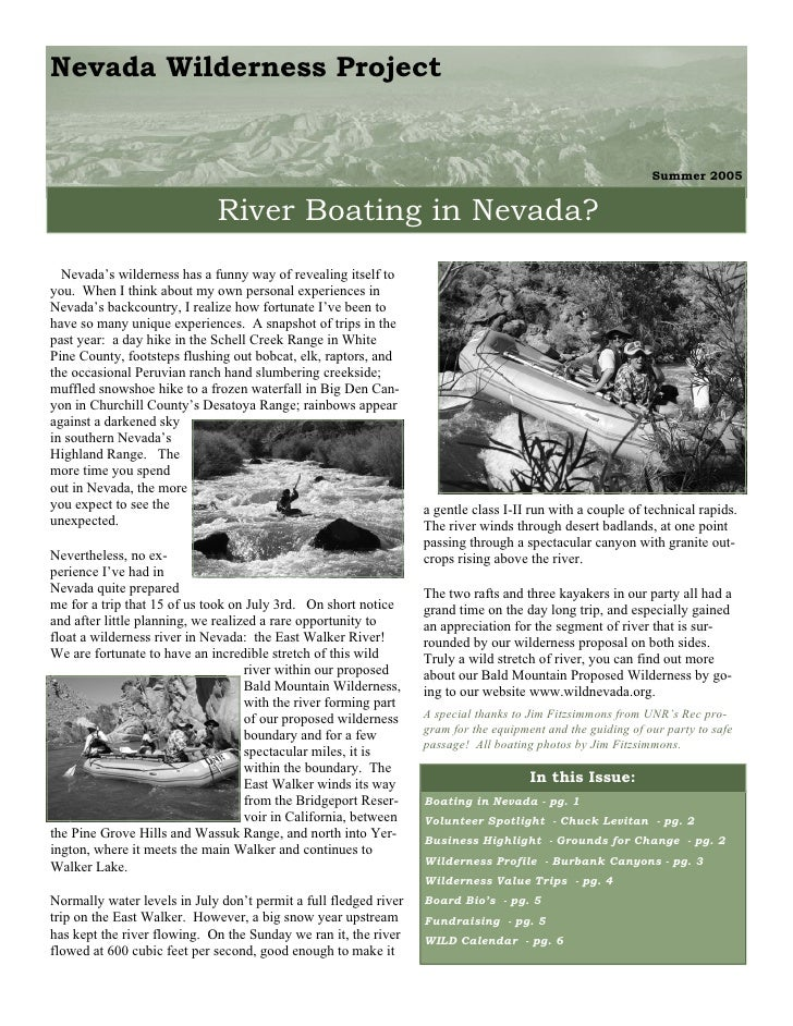 Nevada Wilderness Project                                                                                                 ...
