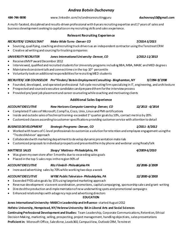 resume of a recruiter - Technical Recruiter Resume