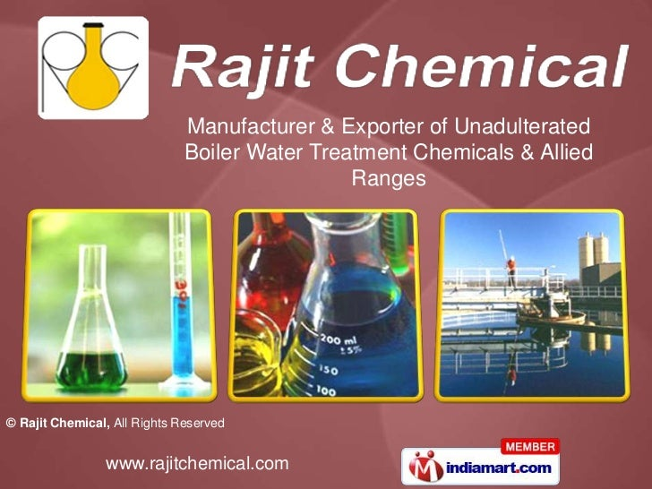 Manufacturer & Exporter of Unadulterated                              Boiler Water Treatment Chemicals & Allied           ...