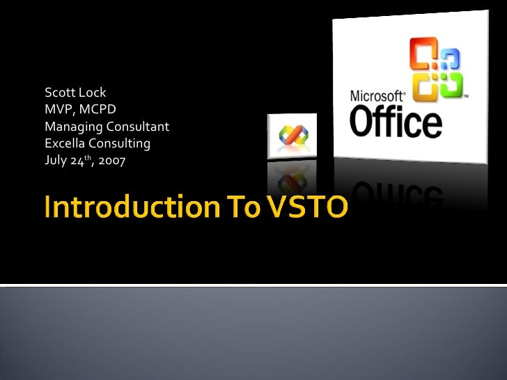 7/24/2007 Caparea.net Presentation - Visual Studio Tools for Office - Automation and Customizing Excel 2003
