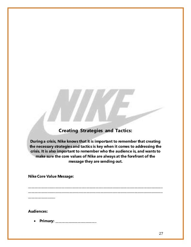nike operational strategy Nike – the legendary brand operations management – strategies 1  introduction many companies measure their research and development.
