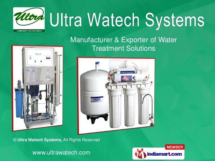 Ultra Watech Systems Tamil Nadu India