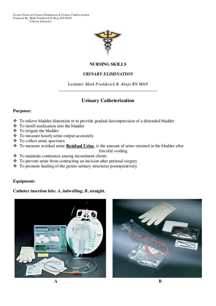 Urinary Catheterization Handouts