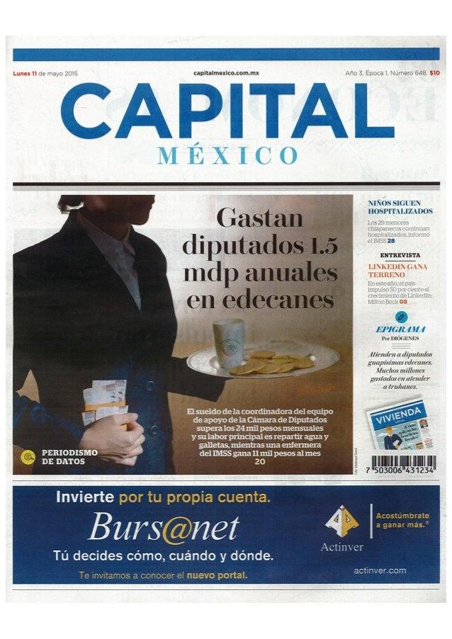 Capital de Mexico-11 may-entrevista Milton Beck