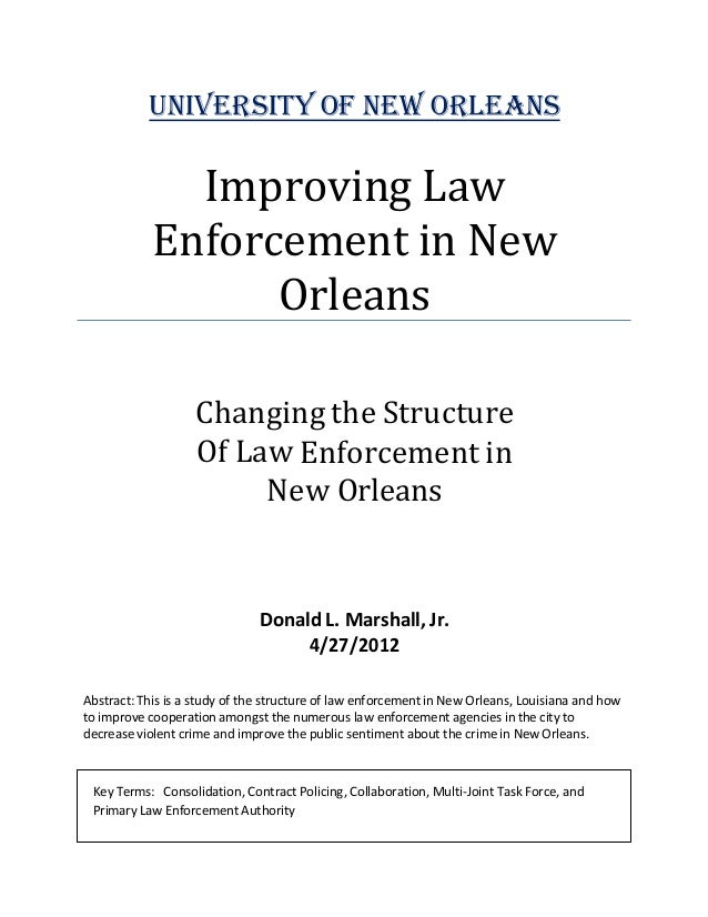 Law enforcement thesis