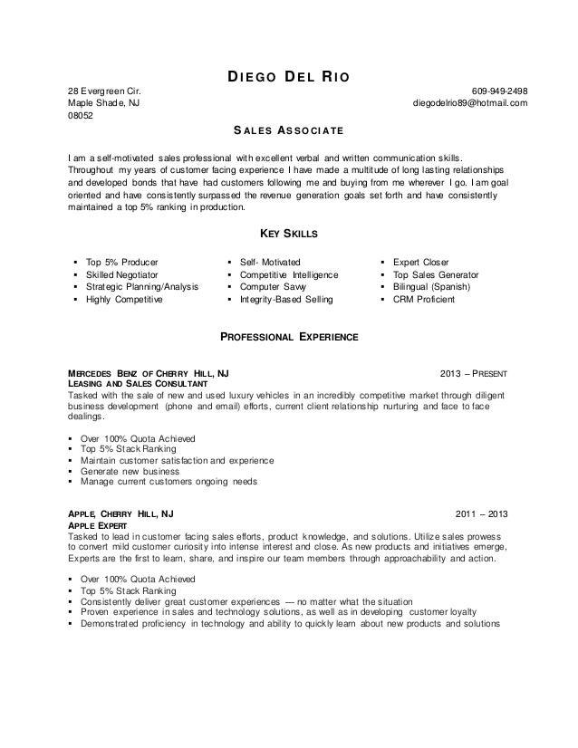 resume of a sales associate retail restaurant associate resume sample perfect resume sales sales associate resume professionally sales associate resume