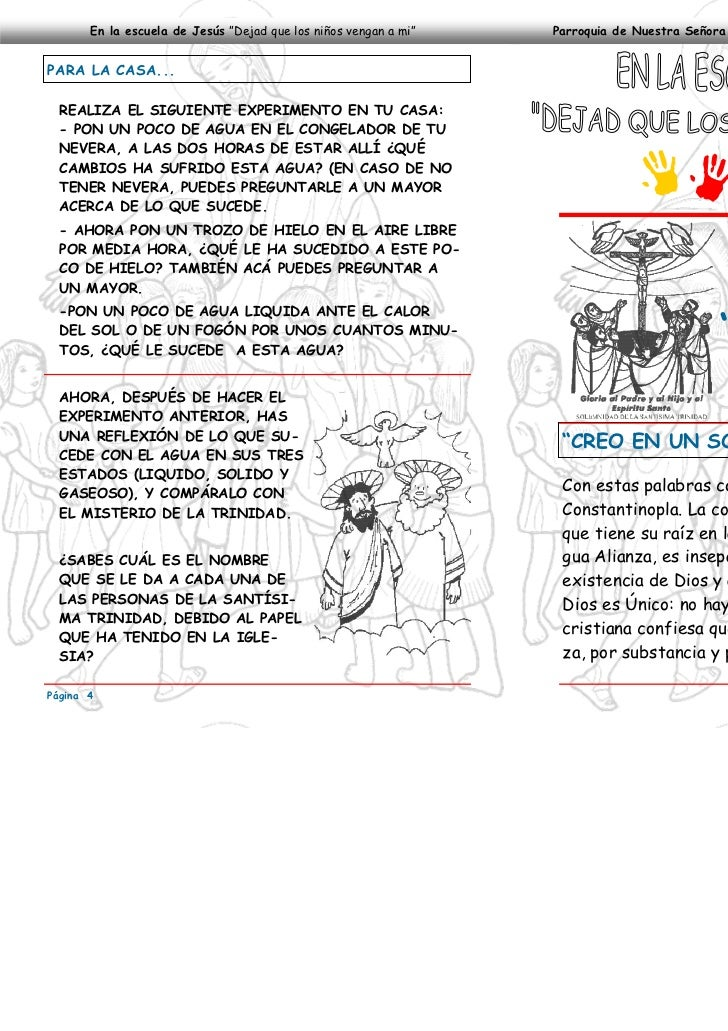 """En la escuela de Jesús """"Dejad que los niños vengan a mi""""   Parroquia de Nuestra Señora del Perpetuo Socorro—Pantanillo, Ab..."""