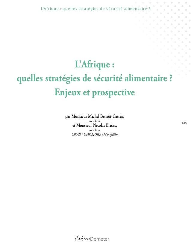 734 afrique quelles_strategies_de_securite_alimentaire_enjeux_et_prospective