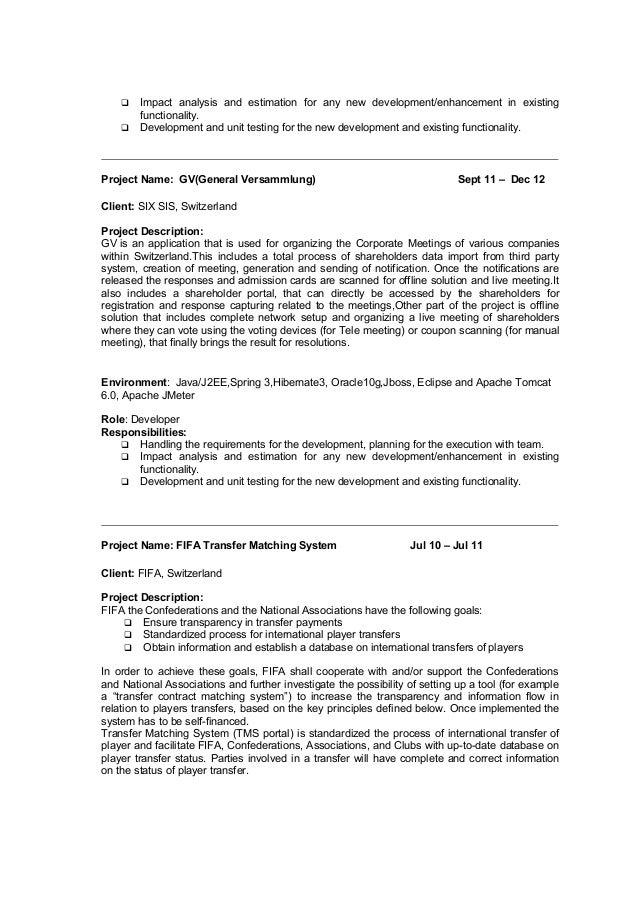 developer profile gallery of java technical lead resume resume 2017
