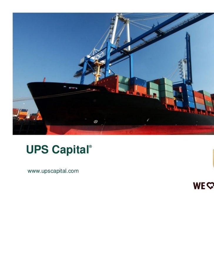 UPS Capital Overview - Customer Facing_Mar 2011
