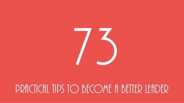73 praktiniai patarimai kaip tapti geresniu lyderiu