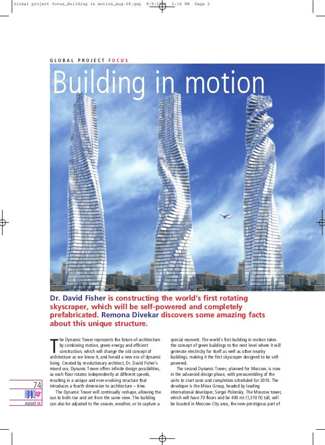 Global project focus_Building in motion_Aug-08.qxp  8/9/2008  2:16 PM  Page 2  GLOBAL PROJECT FOCUS  Building in motion  D...