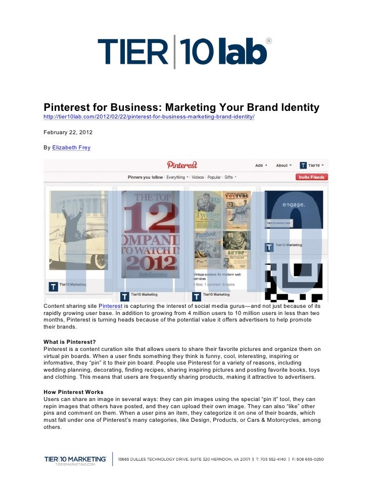 Pinterest for Business: Marketing Your Brand Identity