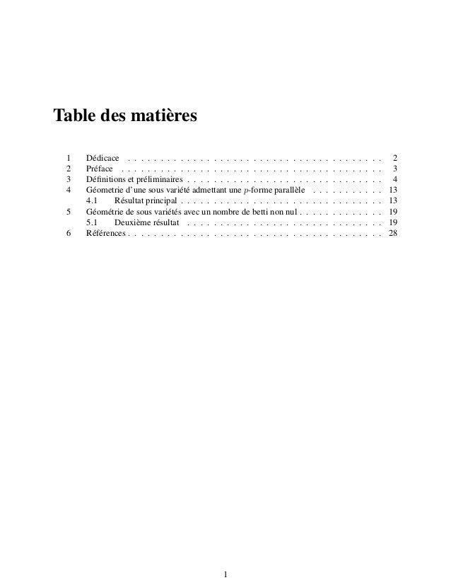Table des matières 1 Dédicace . . . . . . . . . . . . . . . . . . . . . . . . . . . . . . . . . . . . . . . 2 2 Préface . ...