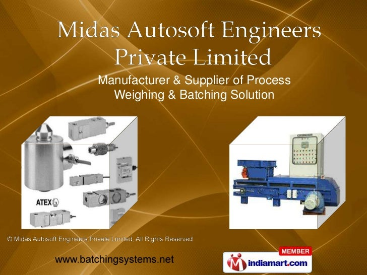 Manufacturer & Supplier of Process  Weighing & Batching Solution