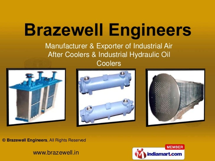 Manufacturer & Exporter of Industrial Air                     After Coolers & Industrial Hydraulic Oil                    ...