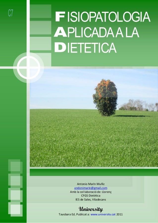 Antonio Marín Muñiz andonimarin@gmail.com Amb la col·laboració de: Llorenç CFGS Dietètica IES de Sales, Viladecans Univers...