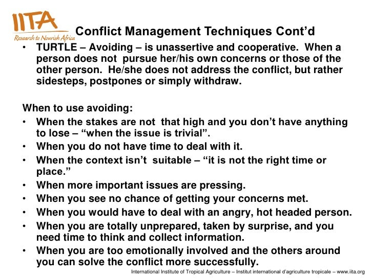 conflict management in the workplace A consultation is a confidential conversation between a conflict management  specialist and an employee or supervisor that helps them resolve a workplace.