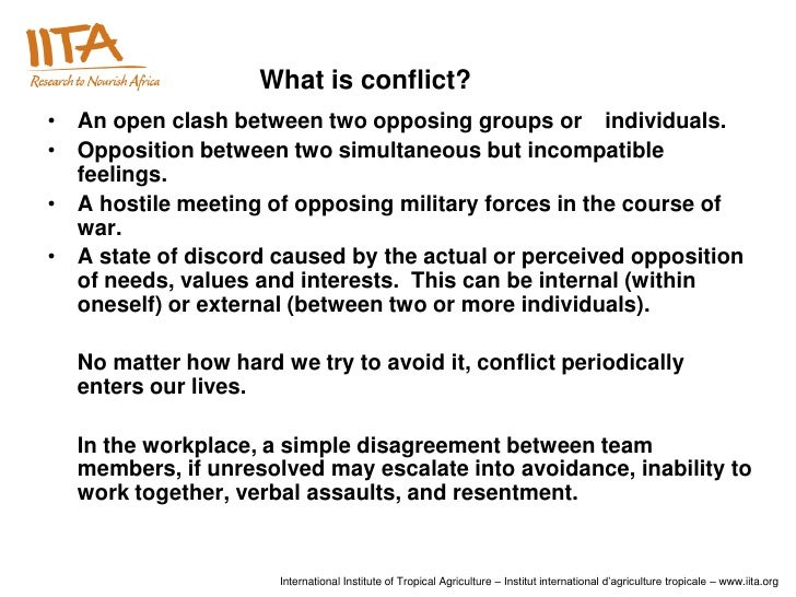 conflict management in the workplace essay