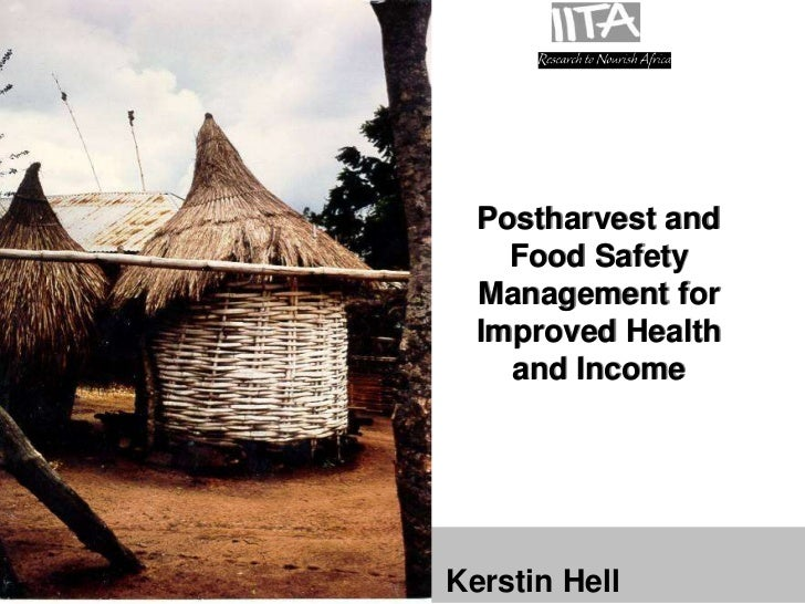 Postharvest and                                            Food Safety                                          Management...