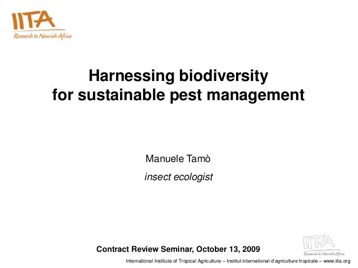 Harnessing biodiversity for sustainable pest management