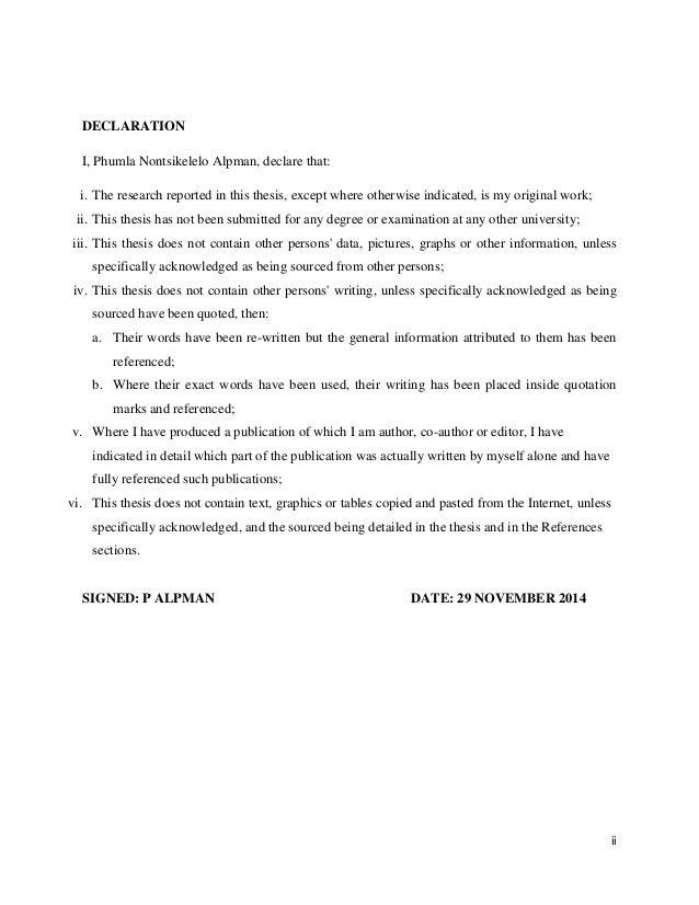 Dissertation ukzn