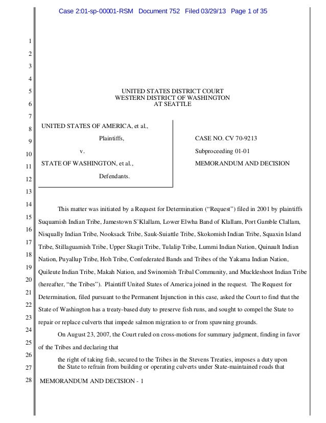 Case 2:01-sp-00001-RSM Document 752 Filed 03/29/13 Page 1 of 35 1 2 3 4 5                                   UNITED STATES ...