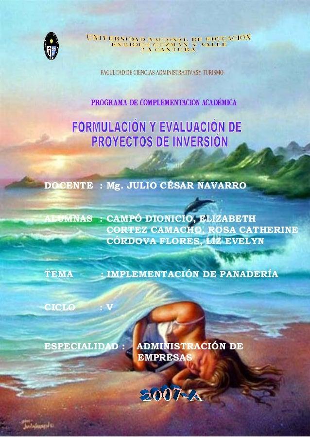 DOCENTE : Mg. JULIO CÉSAR NAVARROALUMNAS : CAMPÓ DIONICIO, ELIZABETH          CORTEZ CAMACHO, ROSA CATHERINE          CÓRD...