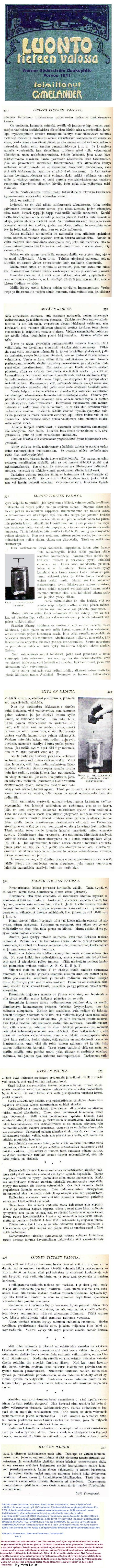 Radium ... Ydintietoutta 1911