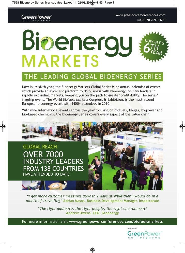 Bioenergy Series Flyer