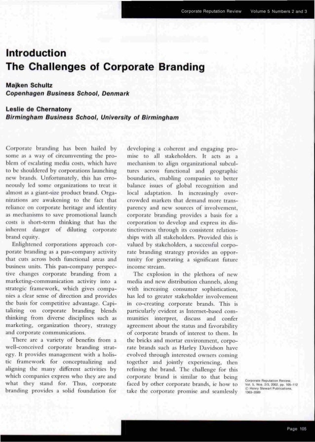 Corporate Branding_ it is a challenge