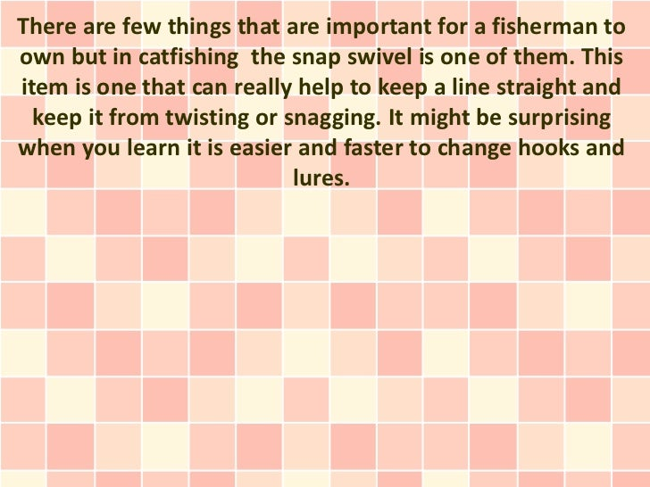 Learn To Use A Fishing Snap Swivel