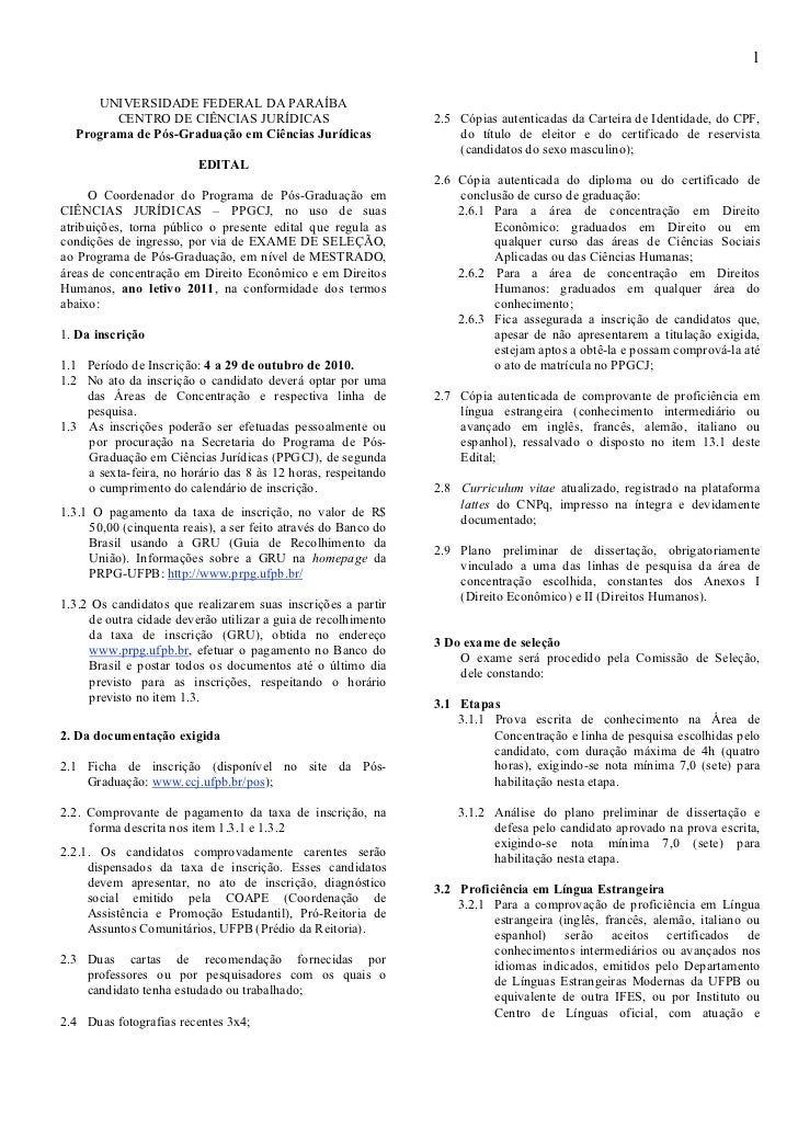 1     UNIVERSIDADE FEDERAL DA PARAÍBA        CENTRO DE CIÊNCIAS JURÍDICAS                            2.5 Cópias autenticad...