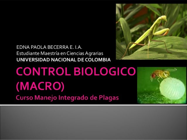 EDNA PAOLA BECERRA E. I.A.Estudiante Maestría en Ciencias AgrariasUNIVERSIDAD NACIONAL DE COLOMBIA