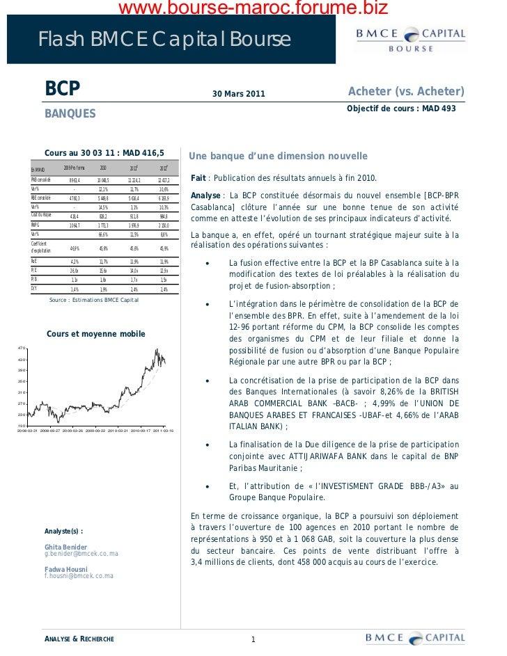 www.bourse-maroc.forume.biz            Flash BMCE Capital Bourse                 BCP                                      ...