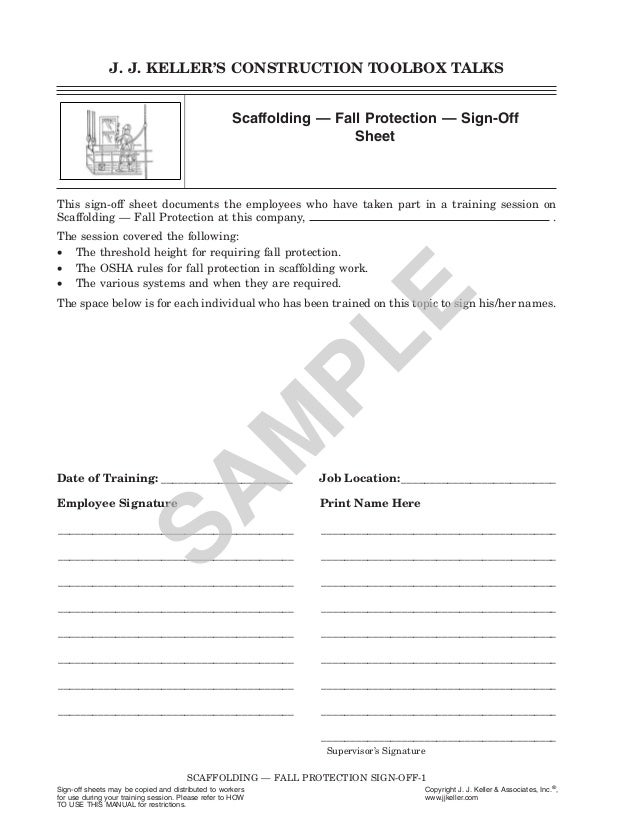 Sign Off Forms For Staff Training - Image Mag