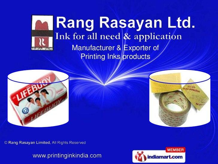 Rang Rasayan Limited Maharashtra India