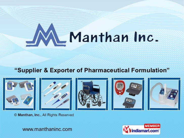 """ Supplier & Exporter of Pharmaceutical Formulation"""