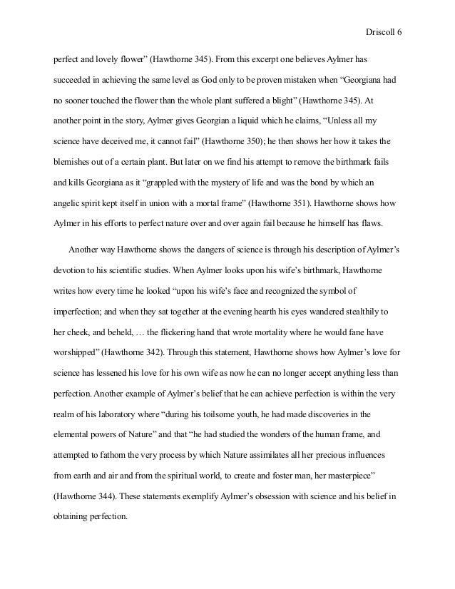 Hawthornes symbols essay