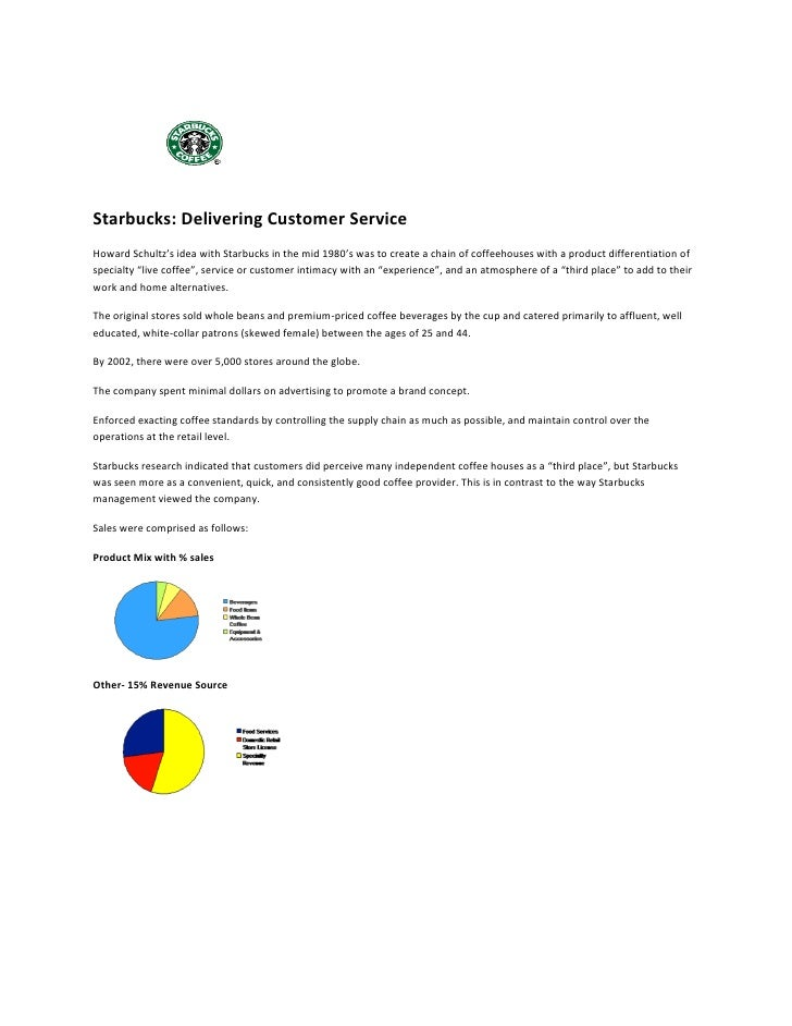 starbucks delivering customer service case study summary