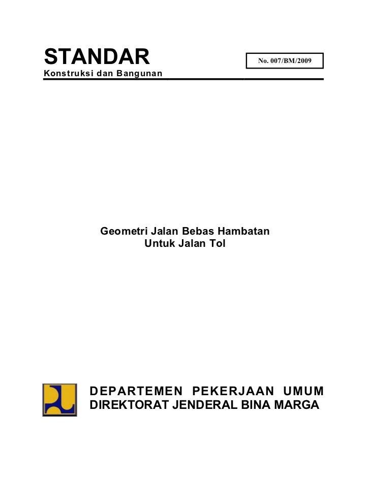 Standard Geometrik Jalan Tol