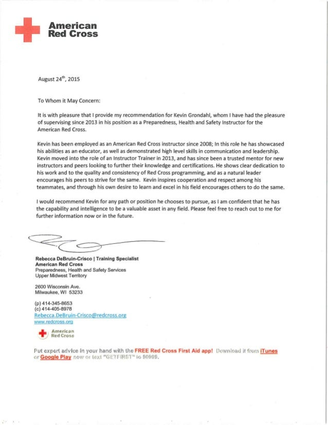 Introduction For Letter Of Recommendation