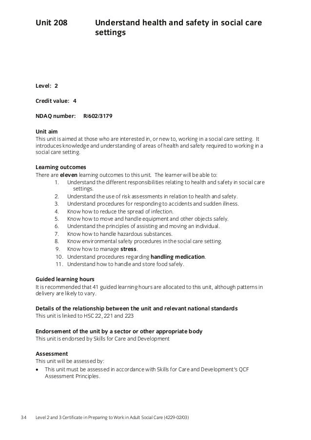 handle information in health and social care settings essay Apprenticeship health and social care at cts to health and safety in health and social care 4 4222-209 handle information in health and social care settings 1.